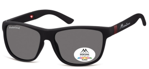 MS312;; Black + red  Polarized - Rubbertouch - Soft Pouch Included ;56;17;140