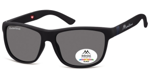 MS312B;; Black + blue  Polarized - Rubbertouch - Soft Pouch Included ;56;17;140