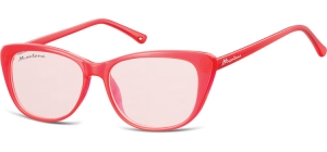 MS42A;; Red + red lenses  Fashion Sunglasses - Cat. 1 - Soft Pouch Included ;54;15;141