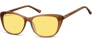 MS42D;; Brown + yellow lenses  Fashion Sunglasses - Cat. 1 - Soft Pouch Included ;54;15;141
