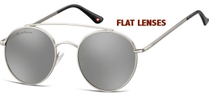 MS84A;; Silver + Revo silver mirror (Flat lenses)  Revo Lenses - Cat. 3 - Soft Pouch Included - Flat lenses ;50;20;145