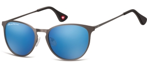 MS88C;;Gunmetal + Revo blueRevo lenses - Matt finishing - Soft Pouch Included;54;19;145