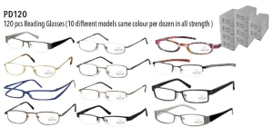 PD120;; PD120: 120 pcs Reading Glasses  (10 different models same colour per dozen in all strength ) ;0;0;0