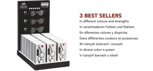 PD18BOX69;; Including 21 readers boxes. Assorted BOX69 in different colours and strengths. 3 bestsellers  full price: €96,90(£ 85,25 / US $ 118,20 / CA $ 150,20/ Sloty 426,40 / Czkr. 2674,00)  ;252;342;450