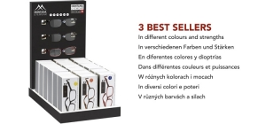 PD18BOX83;; Including 21 readers boxes. Assorted BOX83in different colours and strengths. 3 bestsellers  full price: €96,90 (£ 85,25 / US $ 111,40 / CA $ 150,20/ Sloty 426,40 / Czkr. 2674,00) ;252;342;450