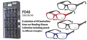 PD48;; 48 Reading Glasses (4 Best sellers readers), included display ST48, different strengths.  Size 330 x 130 x 740 ;0;0;0