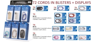 PDCORD72;; 72 cords in blister + display for cords in blister ;240;400;120