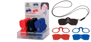 PDNR1;; 18 pieces Nose readers in assorted strengths including pouch, neclace and display  ;150;140;190
