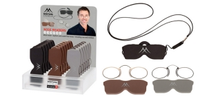 PDNR2;; 18 pieces Nose readers in assorted strengths including pouch, neclace and display  ;150;140;190