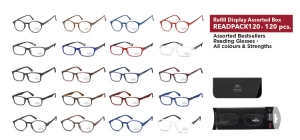 READPACK120;;120 assorted bestsellers reading glasses - Including soft pouch in blister;0;0;0