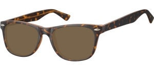 SB-CP134B;; Turtle + brown lenses  Injected CP Sunglasses - Optical Quality - UV400 - CAT 3. - Matt finishing - Soft Pouch Included ;53;19;147