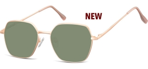 SG-911D;;Pink gold + G15 lensesMetal Sunglasses - Optical Quality - UV400 - CAT 3. - Soft Pouch Included;53;17;148