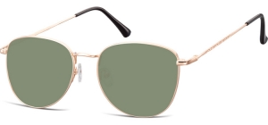 SG-924G;; Pink gold + G15 lenses  Metal Sunglasses - Optical Quality - UV400 - CAT 3. - Soft Pouch Included ;55;19;145