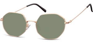 SG-925G;; Pink gold + G15 lenses  Metal Sunglasses - Optical Quality - UV400 - CAT 3. - Soft Pouch Included ;55;20;148