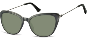 SG-CP121;; Black + G15 lenses  Injected CP Sunglasses - Optical Quality - UV400 - CAT 3. - Soft Pouch Included ;51;17;145