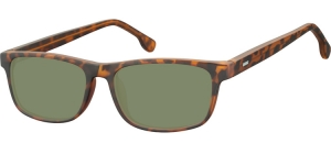 SG-CP122C;; Turtle + G15 lenses  Injected CP Sunglasses - Optical Quality - UV400 - CAT 3. - Matt finishing - Soft Pouch Included ;55;16;148