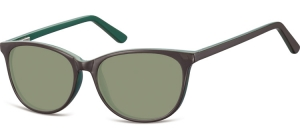SG-CP152C;; Brown + green + G15 lenses Flex Injected CP Sunglasses - Optical Quality - UV400 - CAT 3. - Soft Pouch Included ;52;16;145