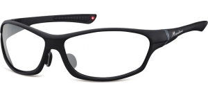 SP307D;;Black + clear (plano lens)Polarized - Cat. 0 Protective lenses - Rubbertouch - Case included;64;15;124