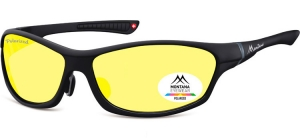 SP307E;;Black + Yellow polarized high contrast lensesPolarized - Cat. 1 Yellow polarized high contrast lenses - Rubbertouch - Case included;64;15;124