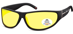 SP308E;;Black + Yellow polarized high contrast lensesPolarized - Cat. 1 Yellow polarized high contrast lenses - Rubbertouch - Case included;70;14;120