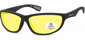 SP312F;;Black + Yellow polarized high contrast lensesPolarized - Cat. 1 Yellow polarized high contrast lenses - Rubbertouch - Case included;63;14;135