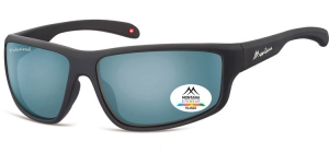 SP313B;;Black + Revo light blue silver mirror<br><br>Polarized - Revo lenses - Rubbertouch - Case included;63;15;140