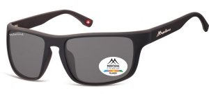 SP314;; Black + smoke lenses  Polarized - Rubbertouch - Case included ;58;19;128