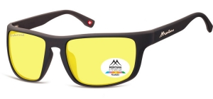 SP314F;; Black + Yellow polarized high contrast lenses  Polarized - Cat. 1 Yellow polarized high contrast lenses - Rubbertouch - Case included ;58;19;128