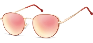 SPG-918;;Pink gold + red + Revo pink goldFlexMetal Sunglasses - Optical Quality - UV400 - CAT 3. - Soft Pouch Included;52;19;140