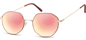 SPG-925;;Pink gold + red + Revo pink goldMetal Sunglasses - Optical Quality - UV400 - CAT 3. - Soft Pouch Included;55;20;148