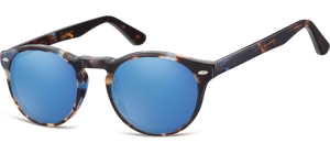 SRB-CP148D;; Turtle mix + Revo blue  Injected CP Sunglasses - Optical Quality - UV400 - CAT 3. - Soft Pouch Included ;49;21;145