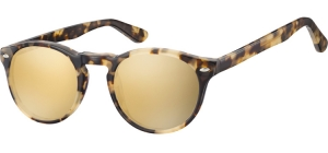 SRG-CP148B;; Light turtle + Revo gold  Injected CP Sunglasses - Optical Quality - UV400 - CAT 3. - Soft Pouch Included ;49;21;145