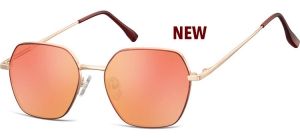 SRR-911F;;Pink gold + red + Revo red lensesMetal Sunglasses - Optical Quality - UV400 - CAT 3. - Soft Pouch Included;53;17;148