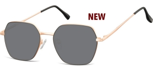 SS-911B;;Pink gold + black + smoke lensesMetal Sunglasses - Optical Quality - UV400 - CAT 3. - Soft Pouch Included;53;17;148