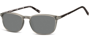 SS-CP120A;; Transparent dark grey + turtle grey + smoke lenses  Injected CP Sunglasses - Optical Quality - UV400 - CAT 3. - Soft Pouch Included ;52;19;140