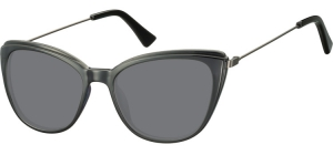 SS-CP121;; Black + smoke lenses  Injected CP Sunglasses - Optical Quality - UV400 - CAT 3. - Soft Pouch Included ;51;17;145