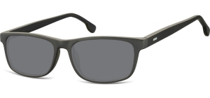 SS-CP122;; Black + smoke lenses  Injected CP Sunglasses - Optical Quality - UV400 - CAT 3. - Matt finishing - Soft Pouch Included ;55;16;148