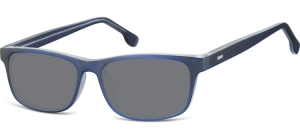 SS-CP122B;; Blue + transparent + smoke lenses  Injected CP Sunglasses - Optical Quality - UV400 - CAT 3. - Matt finishing - Soft Pouch Included ;55;16;148