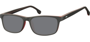 SS-CP122H;; Burgundy + transparent + smoke lenses  Injected CP Sunglasses - Optical Quality - UV400 - CAT 3. - Matt finishing - Soft Pouch Included ;55;16;148