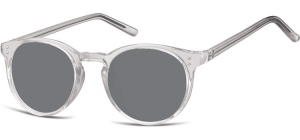 SS-CP123;; Transparent grey + smoke lenses  Injected CP Sunglasses - Optical Quality - UV400 - CAT 3. - Soft Pouch Included ;48;21;143