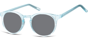 SS-CP123A;; Transparent blue + smoke lenses  Injected CP Sunglasses - Optical Quality - UV400 - CAT 3. - Soft Pouch Included ;48;21;143