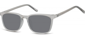 SS-CP124;; Transparent grey + smoke lenses  Injected CP Sunglasses - Optical Quality - UV400 - CAT 3. - Soft Pouch Included ;51;18;144