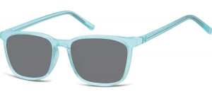 SS-CP124A;; Transparent blue + smoke lenses  Injected CP Sunglasses - Optical Quality - UV400 - CAT 3. - Soft Pouch Included ;51;18;144