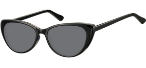 SS-CP138;; Black + smoke lenses Flex Injected CP Sunglasses - Optical Quality - UV400 - CAT 3. - Soft Pouch Included ;52;16;142