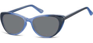 SS-CP138C;; Gradient blue + smoke lenses Flex Injected CP Sunglasses - Optical Quality - UV400 - CAT 3. - Soft Pouch Included ;52;16;142
