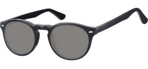 SS-CP148A;; Black + smoke lenses  Injected CP Sunglasses - Optical Quality - UV400 - CAT 3. - Soft Pouch Included ;49;21;145