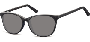 SS-CP152;; Black + smoke lenses Flex Injected CP Sunglasses - Optical Quality - UV400 - CAT 3. - Soft Pouch Included ;52;16;145