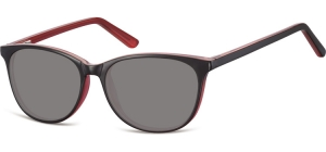 SS-CP152F;; Black + pink + smoke lenses Flex Injected CP Sunglasses - Optical Quality - UV400 - CAT 3. - Soft Pouch Included ;52;16;145