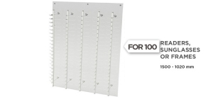 WD100;;High quality wall display for 100 readers, sunglasses or frames, made in matt methacrylate and metal ;150;1000;0